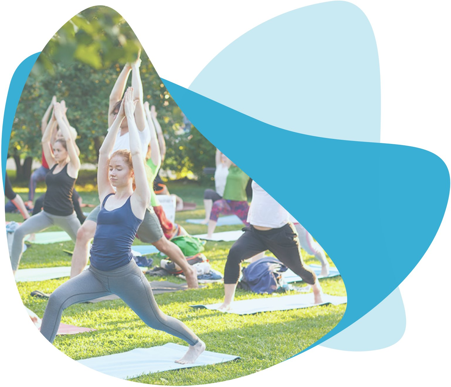 Meet new people and have fun doing yoga outdoor activity